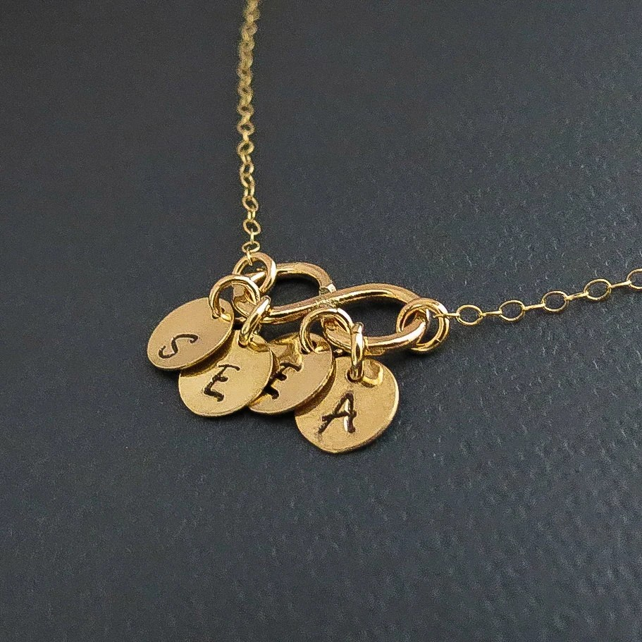 Personalized Necklace Infinity Necklace With Initials By
