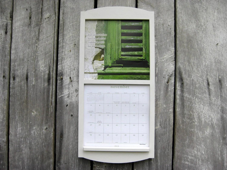 12 X 24 Calendar Holder Wooden Calendar Frame In