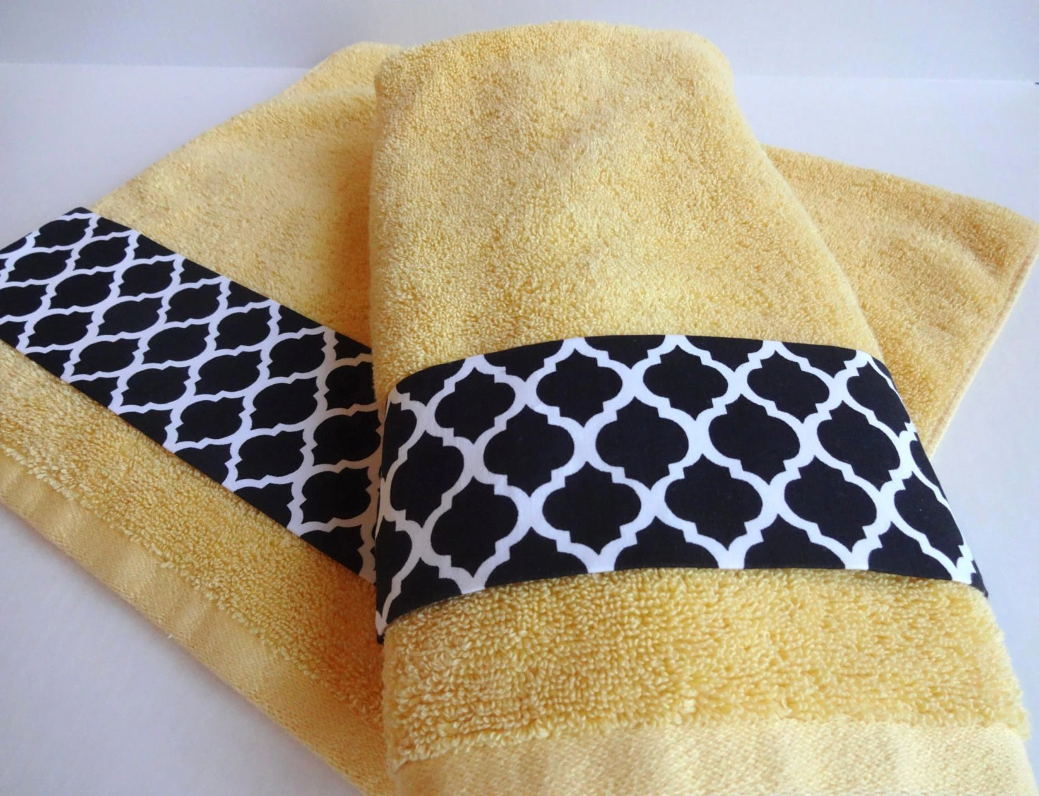 Yellow Towels Hand Towel Set Hand Towels Yellow And Black Bathroom Towel