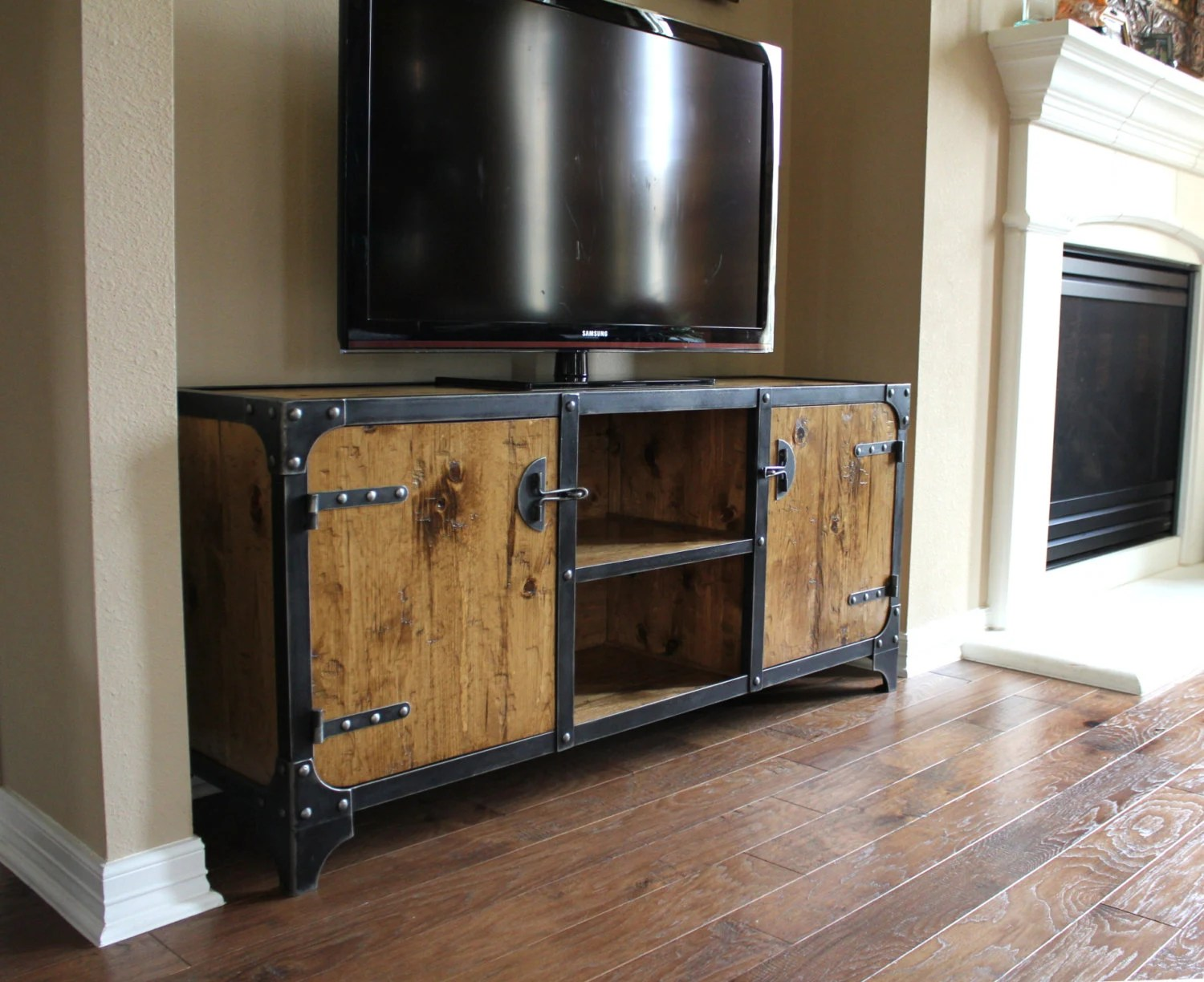 Media Schrank Industrial Media Cabinet / Tv Stand / Media Console