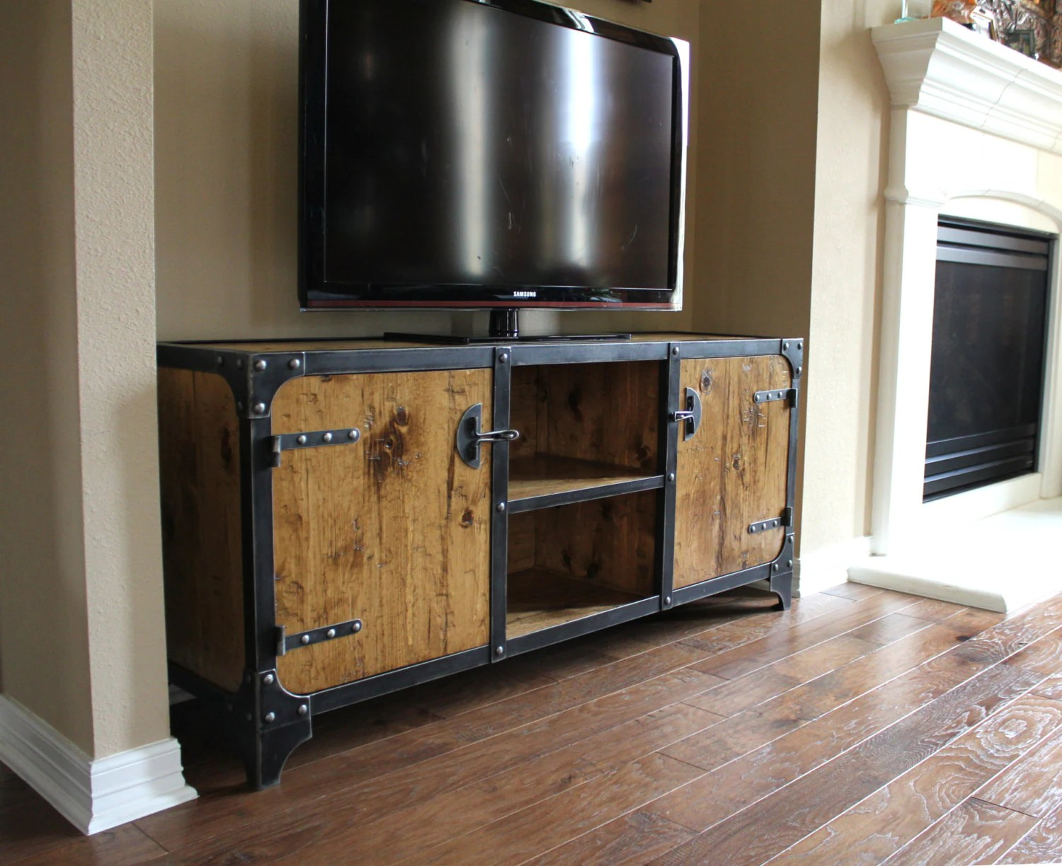Industrial Media Cabinet Tv Stand Media Console - Tv Sideboard