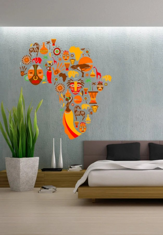 Classic Car Wallpaper Murals African Cultural Design Culture Africa Continent By Uberdecals