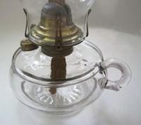 Antique Oil Lamp Queen Anne Finger OIl Lamp Light EAPG