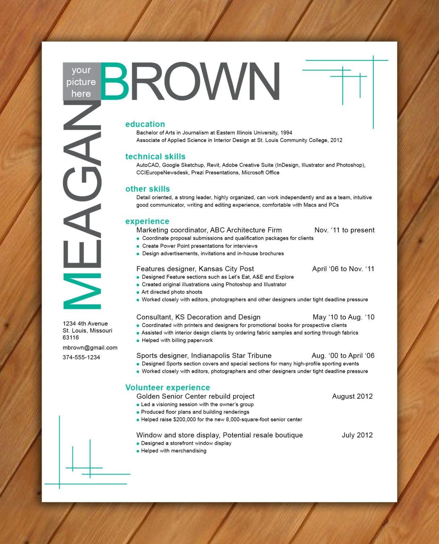 resume design patterns