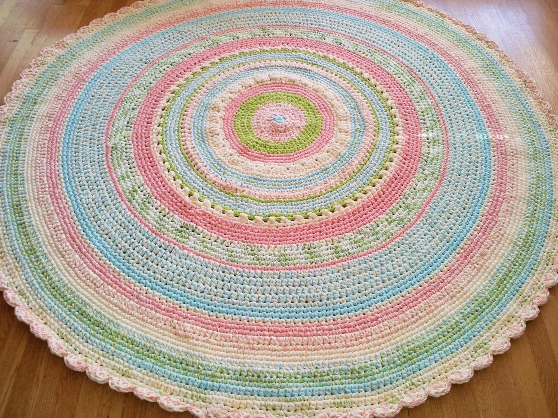Large Custom Made Laurie39s Perfect Pastel Nursery Rug