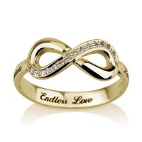The gallery for --> Infinity Promise Ring Gold