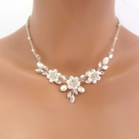 Swarovski crystal bridal necklace and earrings SET Wedding