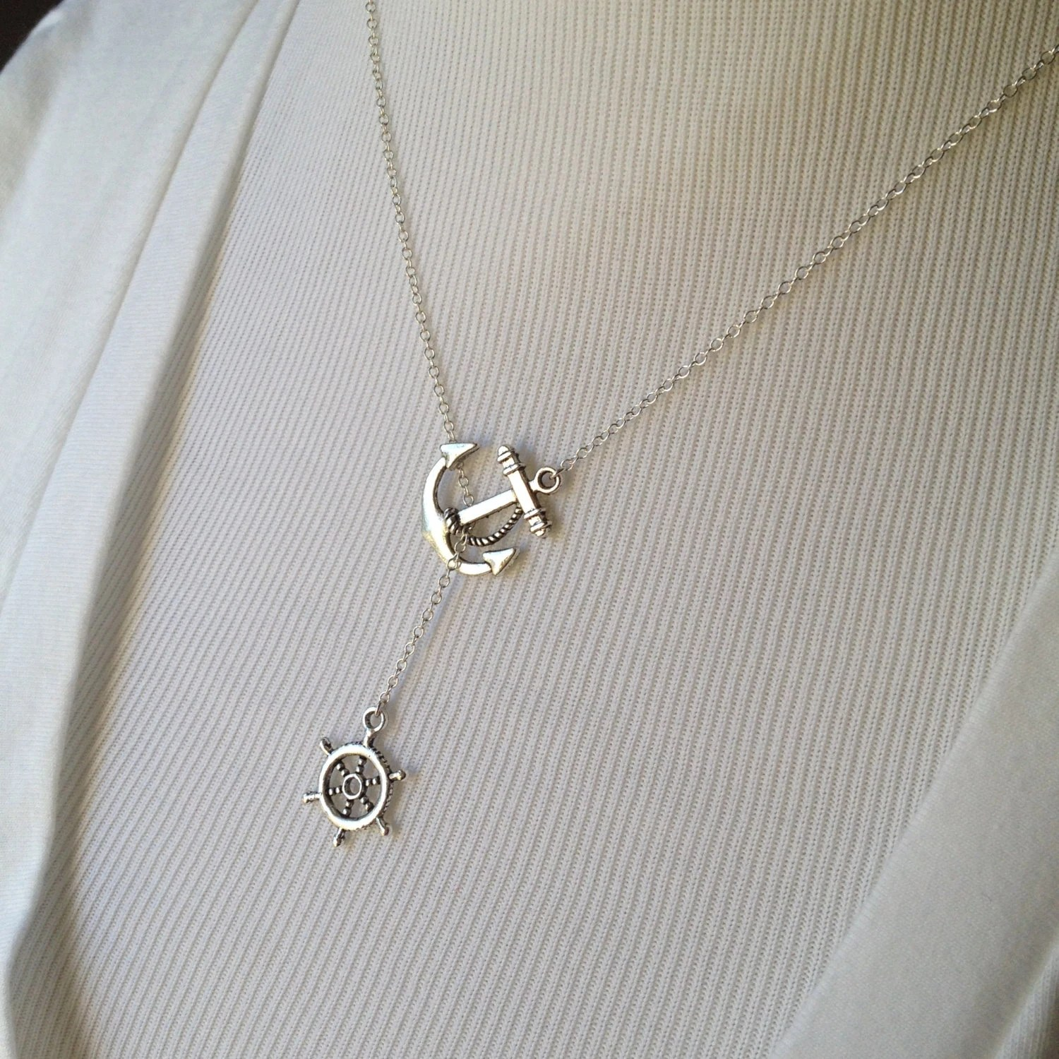 I Refuse To Sink Lariat Necklace