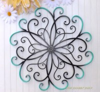 GRAY // Teal // Black // Large Metal Wall Art // by ...