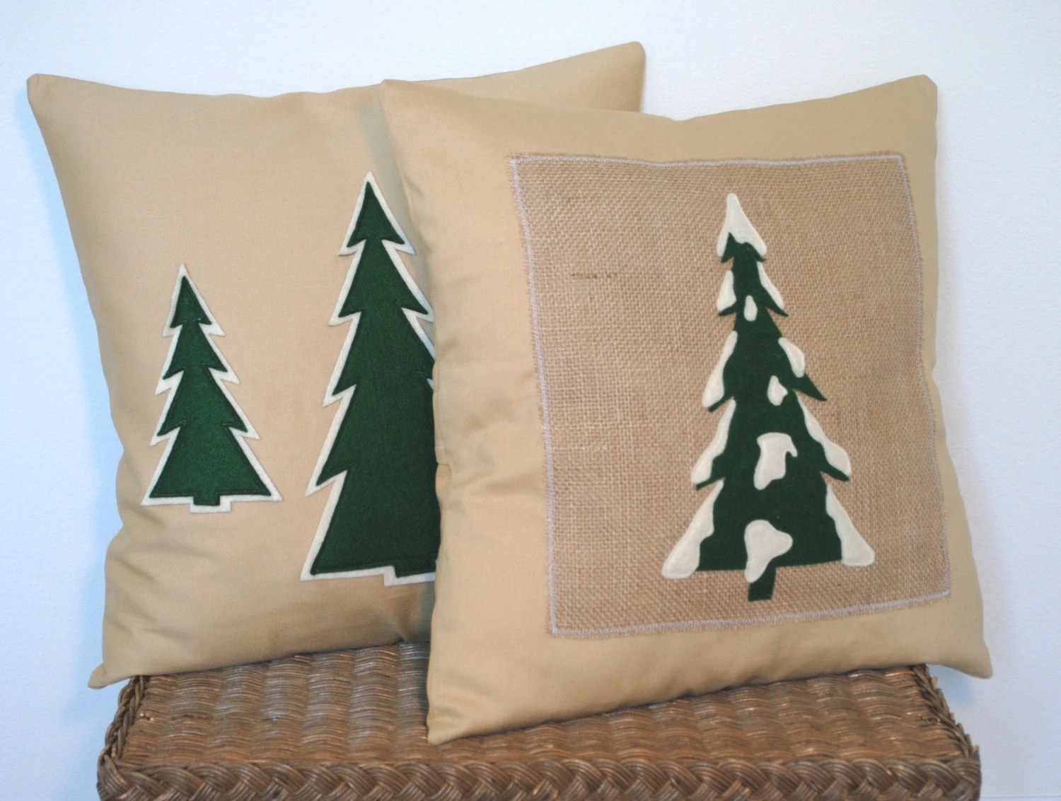 Cushion Covers Christmas Two Christmas Tree Pillow Covers Holiday By Thatdutchgirlhome