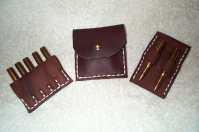 Leather Cartridge Holder set for standard rifle cartridges