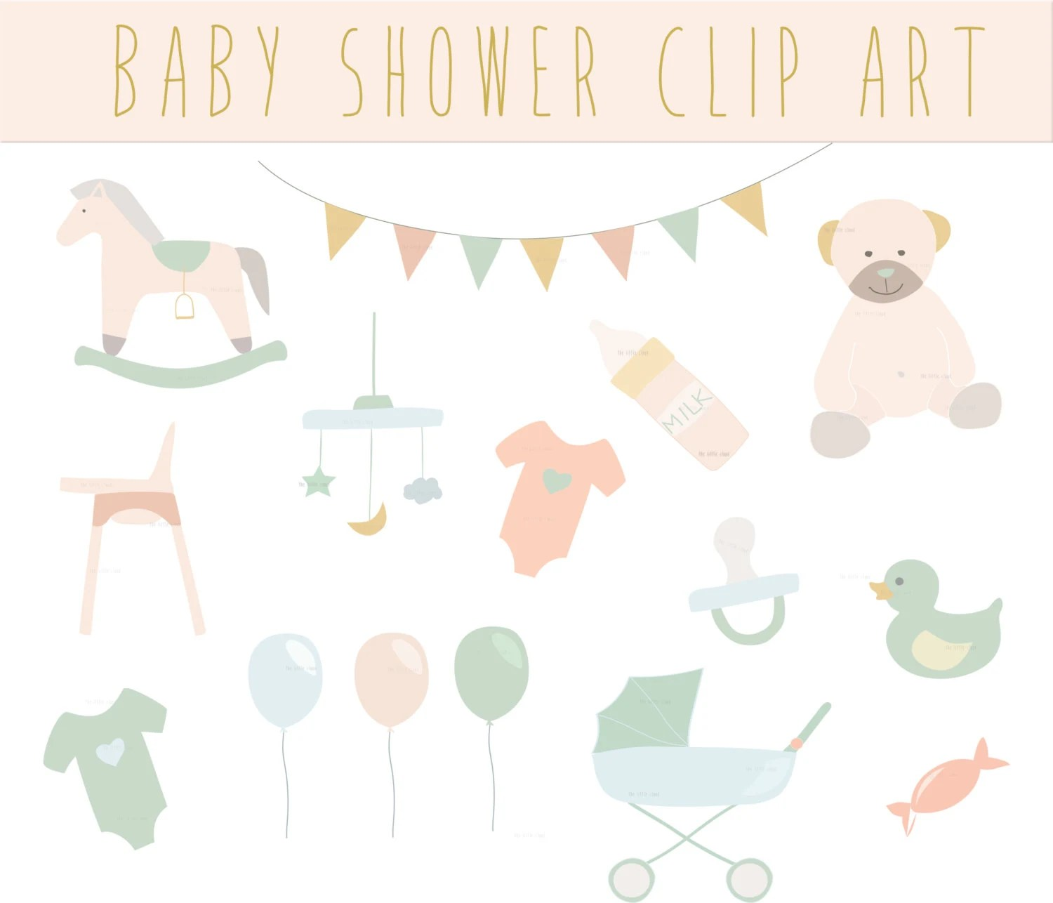 Rocking Chair Baby Bunting Baby Shower Clip Art Baby Clipart Cute Baby Shower Clipart