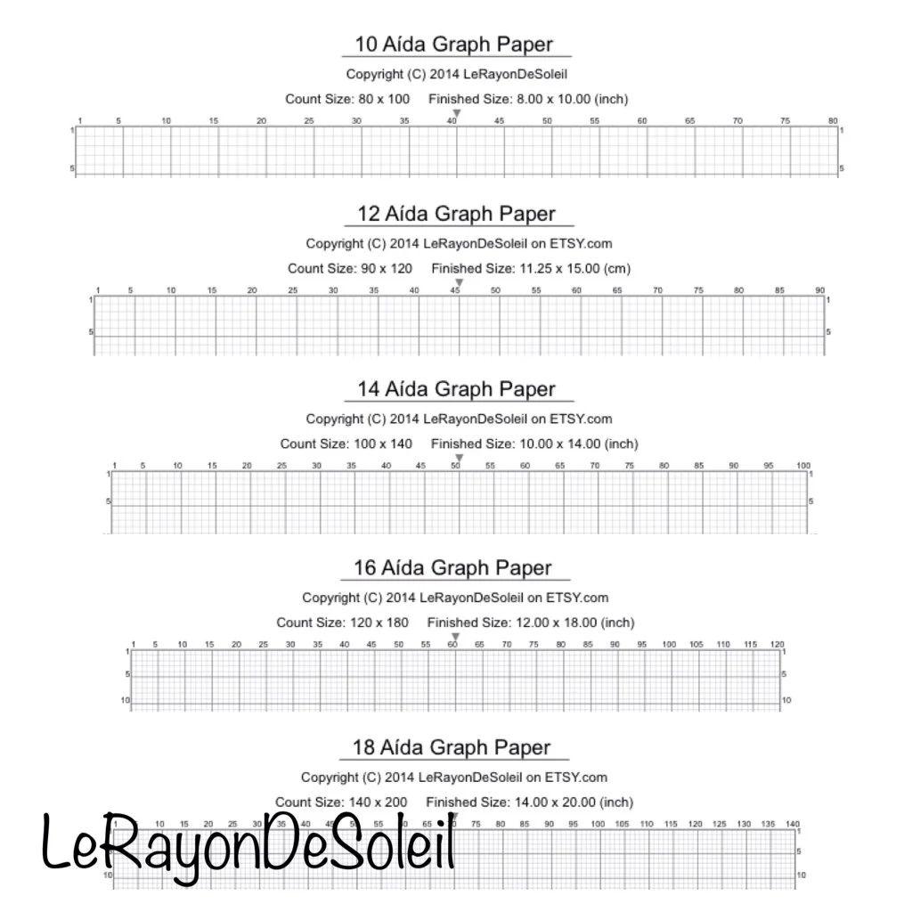 16 count cross stitch graph paper