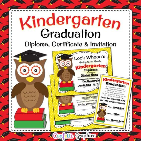 kindergarten graduation diploma template