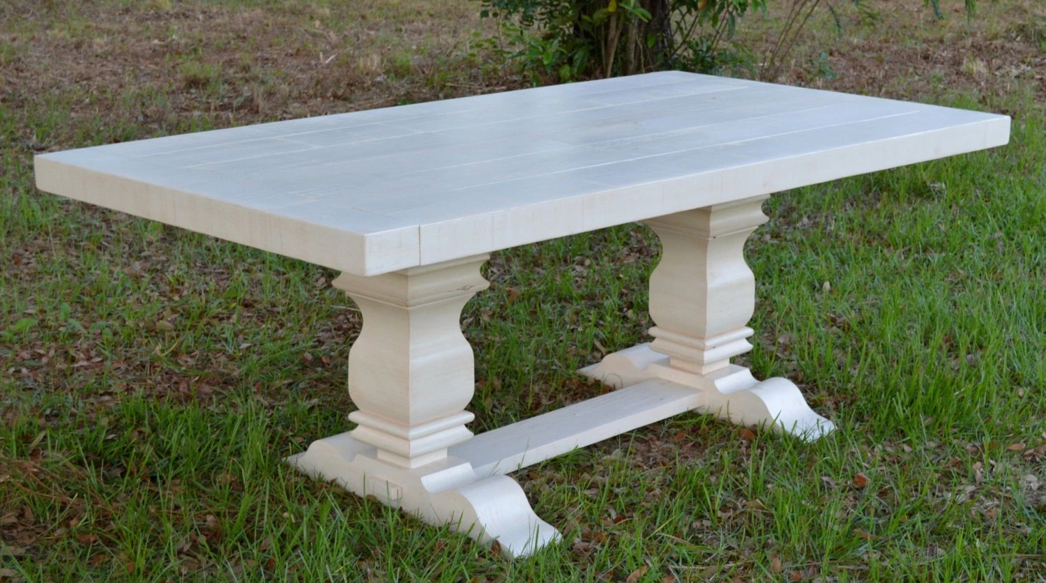 White Harvest Table Harvest Table Dining Table Farmhouse Table Antique White