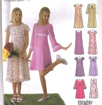 Items similar to Junior Bridesmaid Dress Pattern..Girls ...