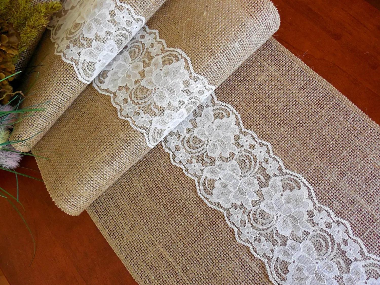Burlap Table Runner Wedding Table Runner Bridal By