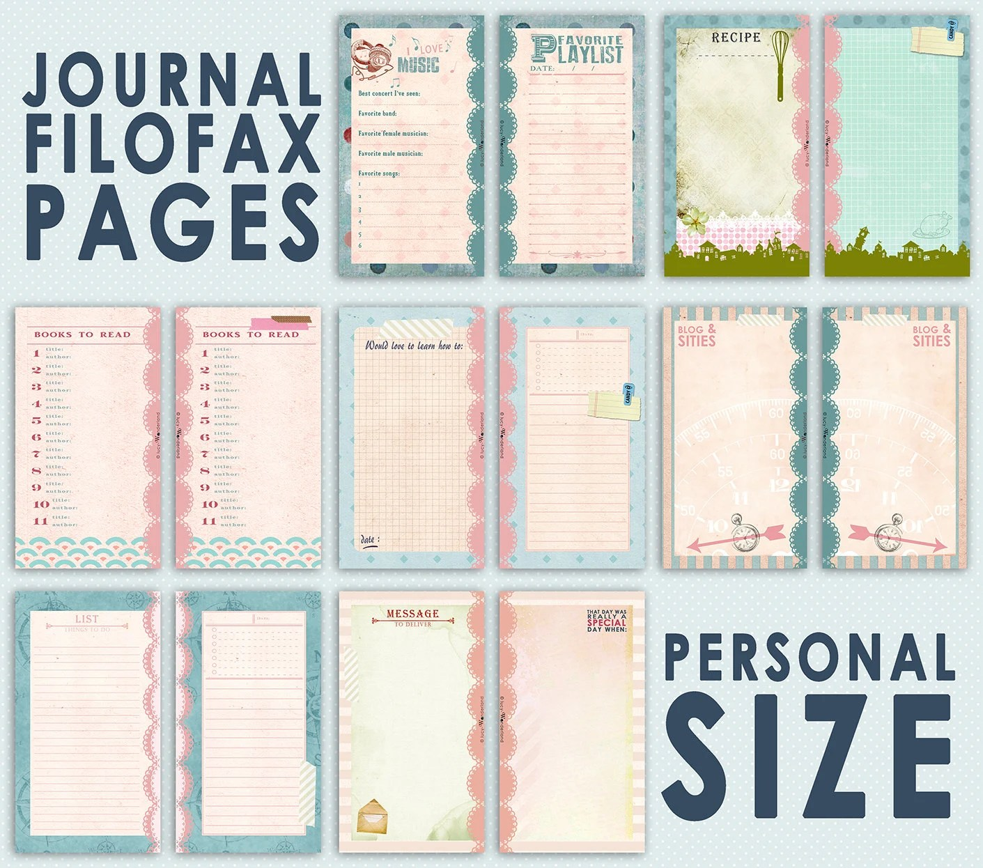 Filofax Personal Einlagen Printable Journal Pages For Filofax Personal Size