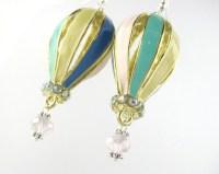Hot Air Balloon Earrings Hot Air Balloon Jewelry Colorful