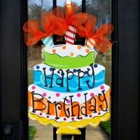 Happy Birthday Sign Birthday Door Decor Happy by ...