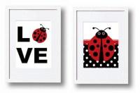 Items similar to Ladybug nursery decor wall art Love ...