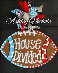 House Divided Football Door Hanger Door Decoration Fall