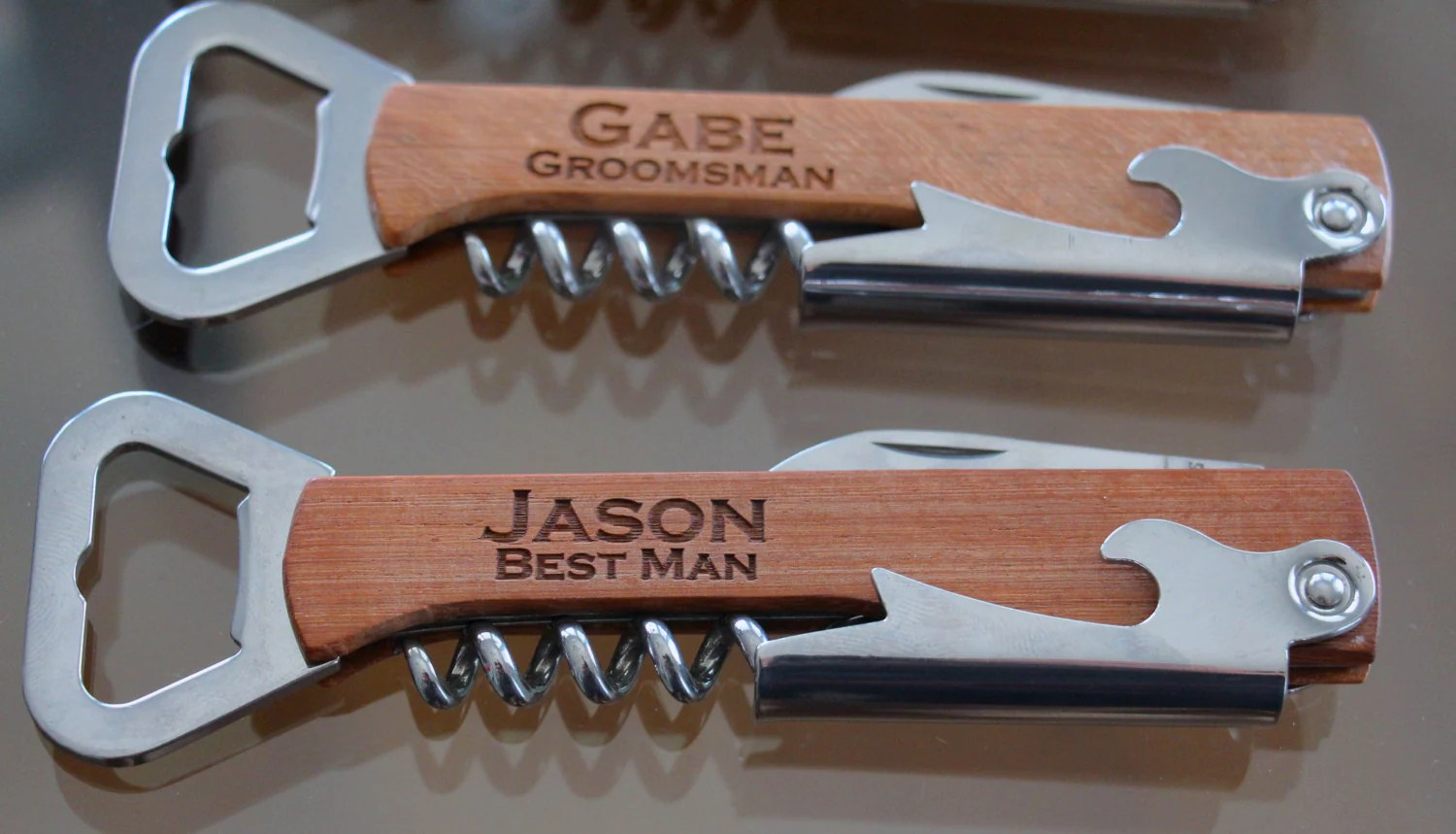 Cool Corkscrew Gifts Personalized Wine Beer Bottle Opener Groomsmen Gifts