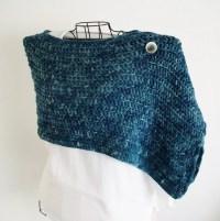 Rustic Blue Shoulder Shawl Wrap