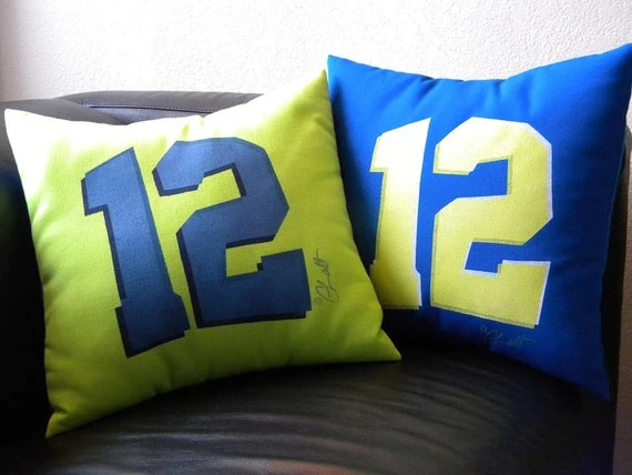 Outdoor Pillow 12th Twelfth Man Seattle 15 Football Bowl