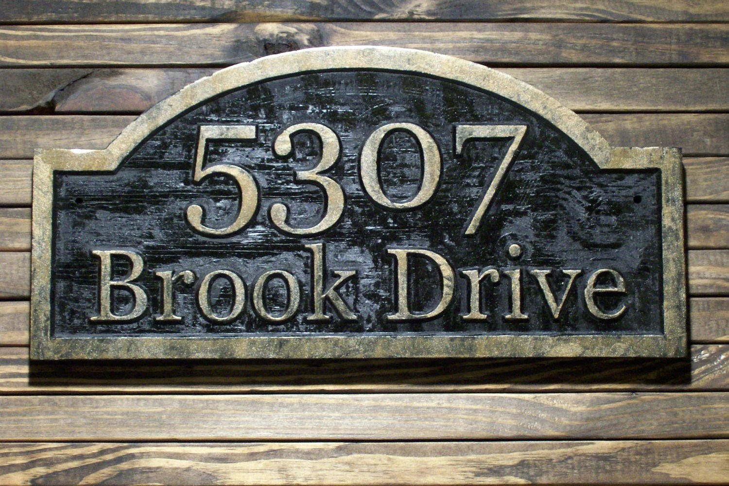 Antique Watches Wood Address Plaque Custom Carved Antique Brass By Wood4decor