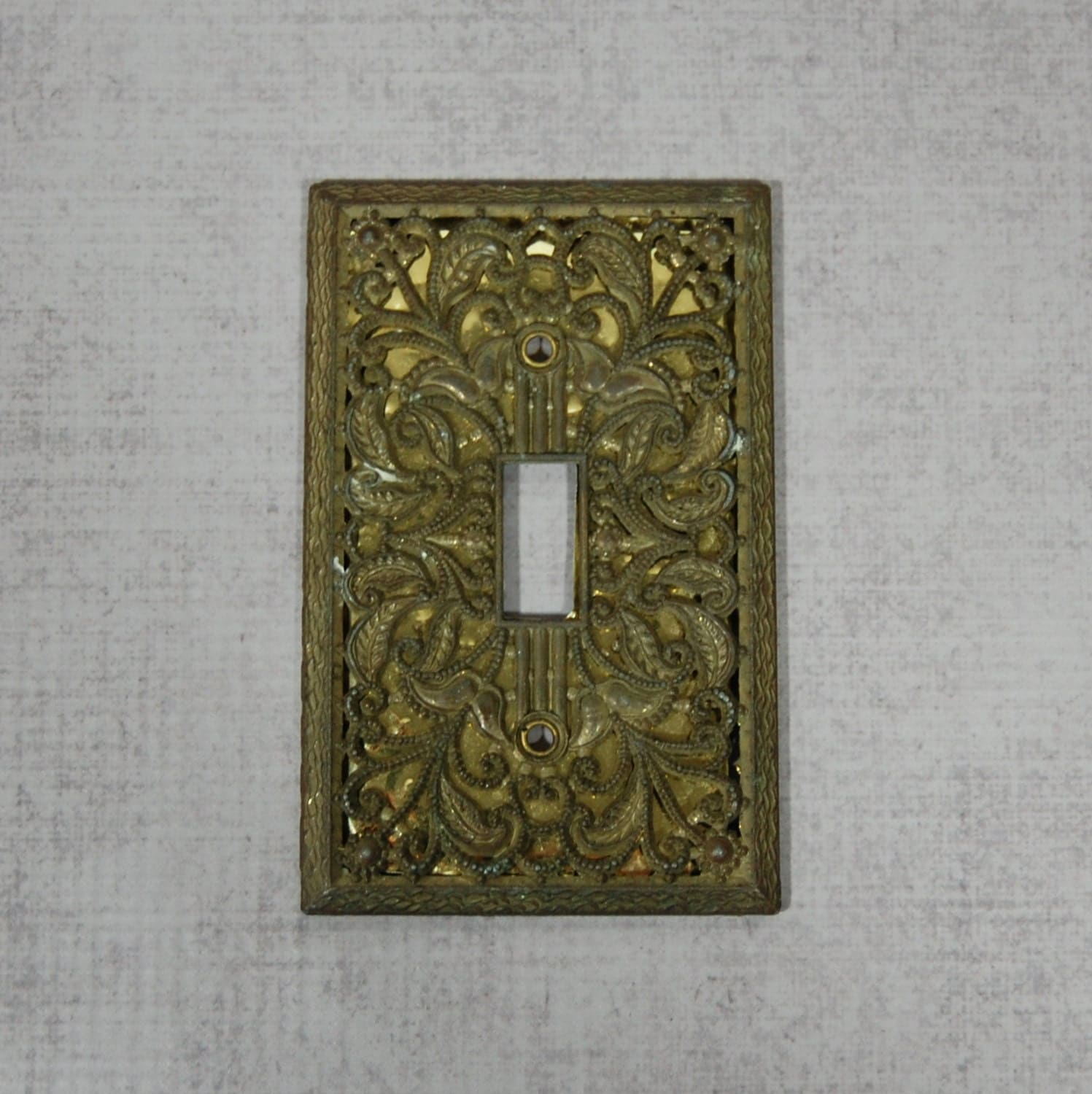 Decorative Light Plate Covers Decorative Light Switch Cover Plate Aged Brass Patina Cast