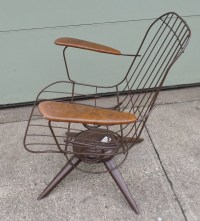 Vintage Mid Century Modern Eames Era Wire Chair Brown