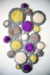 Items similar to Vintage Inspired Bubble Art Piece ...