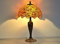 Table lamp 12 shade hand made of natural Baltic amber.