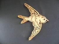 Sparrow Bird Wall Art Wood Bird Wooden Bird by ...