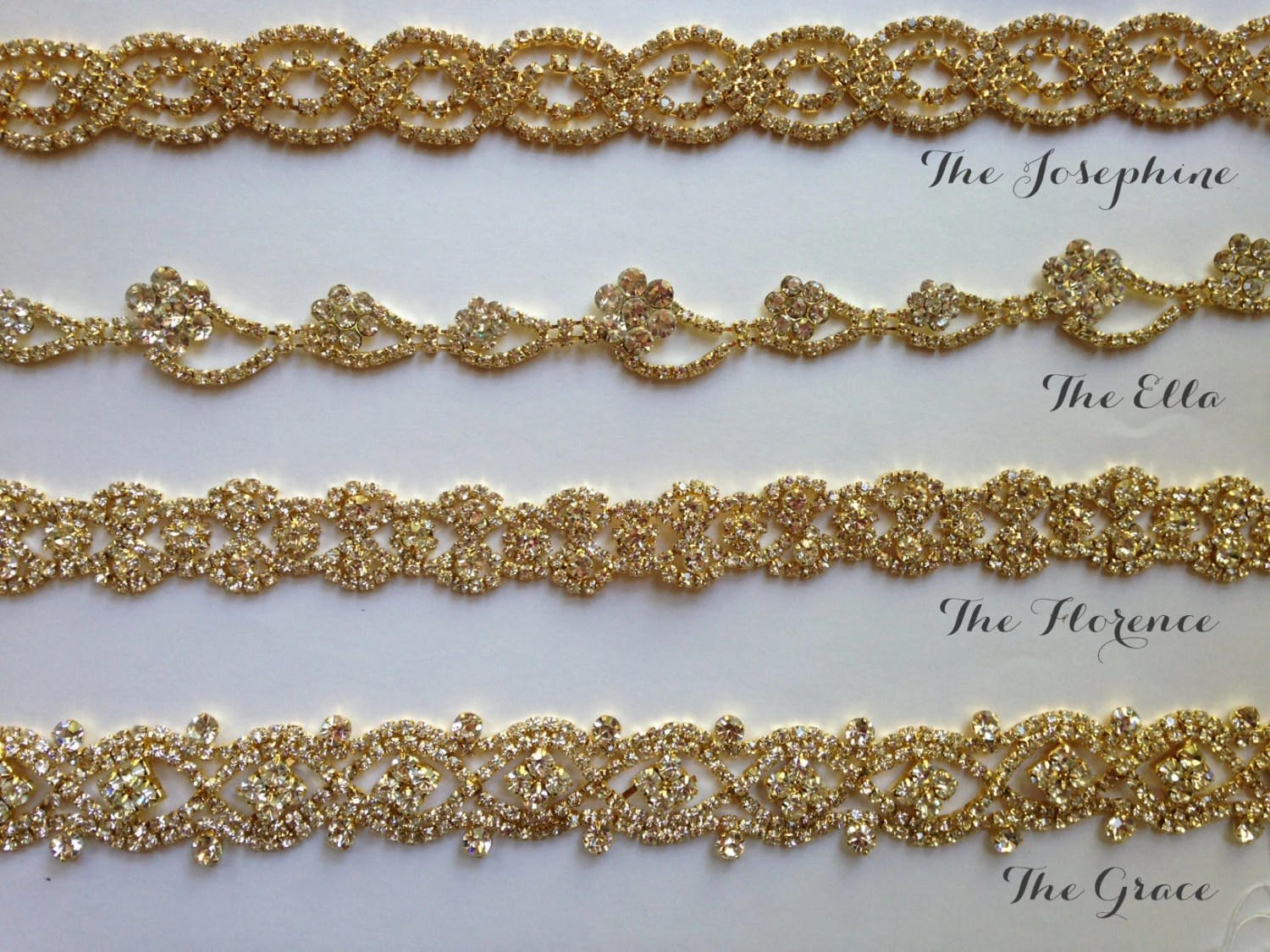 gold bridal sash wedding sash vintage wedding sash zoom