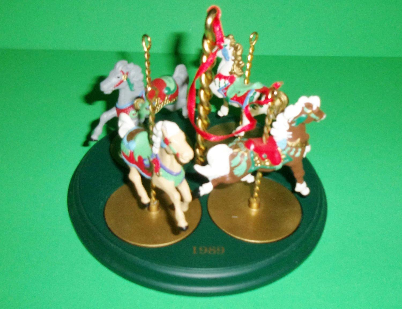 hallmark carousel ornaments