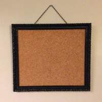 Items similar to Black Ornate Framed Bulletin Board ...