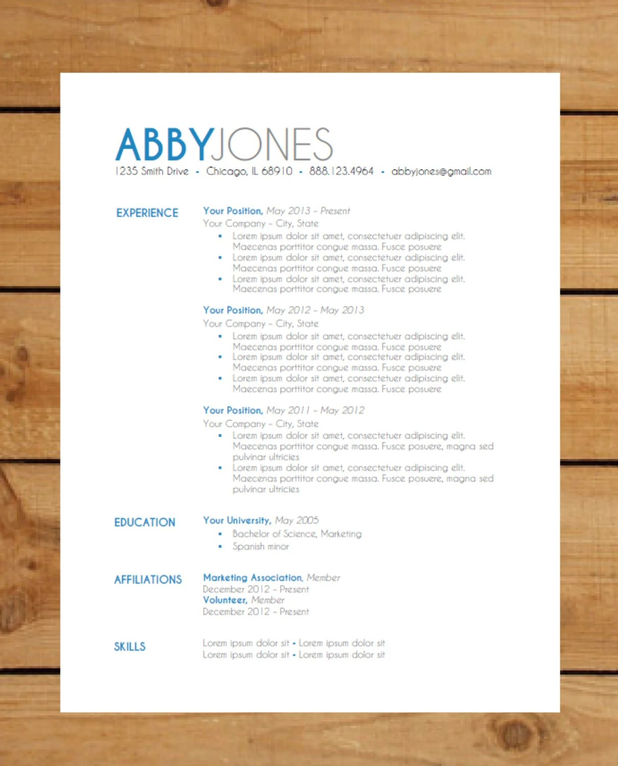 free modern resume template 11052017 - Example Of Modern Resume