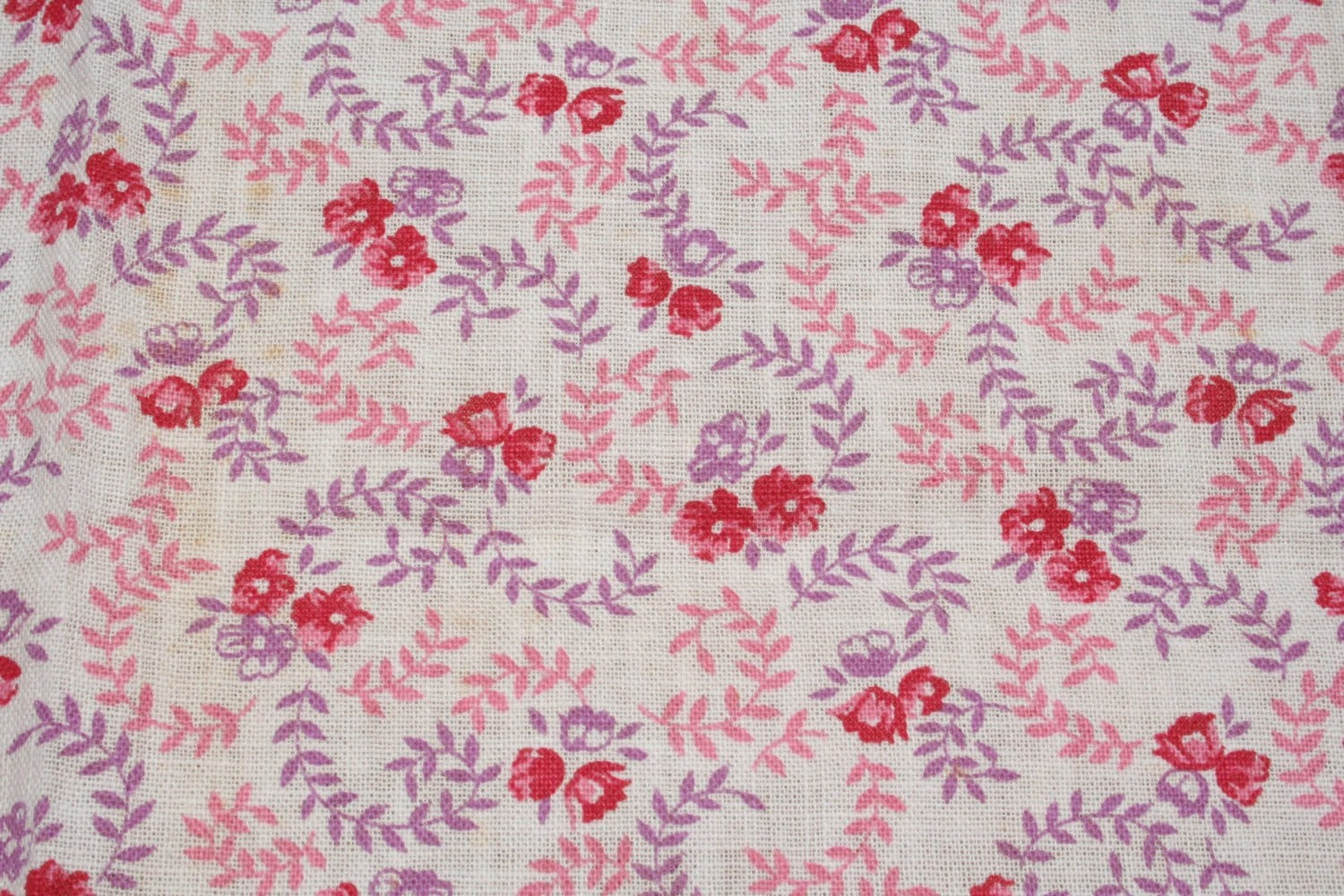 Flour Sack Fabric By The Yard Vintage Feedsack Flour Sack Fabric Pink Purple Calico Floral
