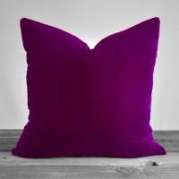 Plum Velvet Throw Pillow Cover 20x20 by KATHLEENANNHOME on ...