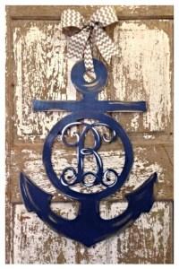 Wooden Anchor Anchor Door Hanger Nautical Wall Decor