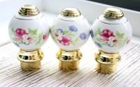 Ceramic Finials Bed Posts / Porcelain Door Knobs / Floral Door