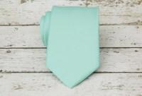 Pastel Mint Green Necktie by Tietle on Etsy