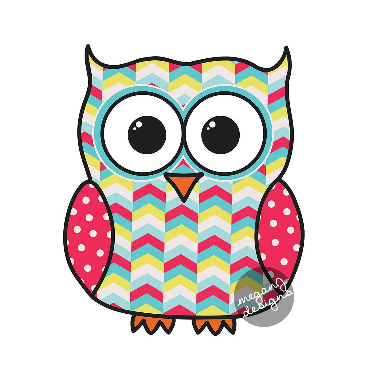 Colorful Pictures Of Owls Tribal Owl Pattern
