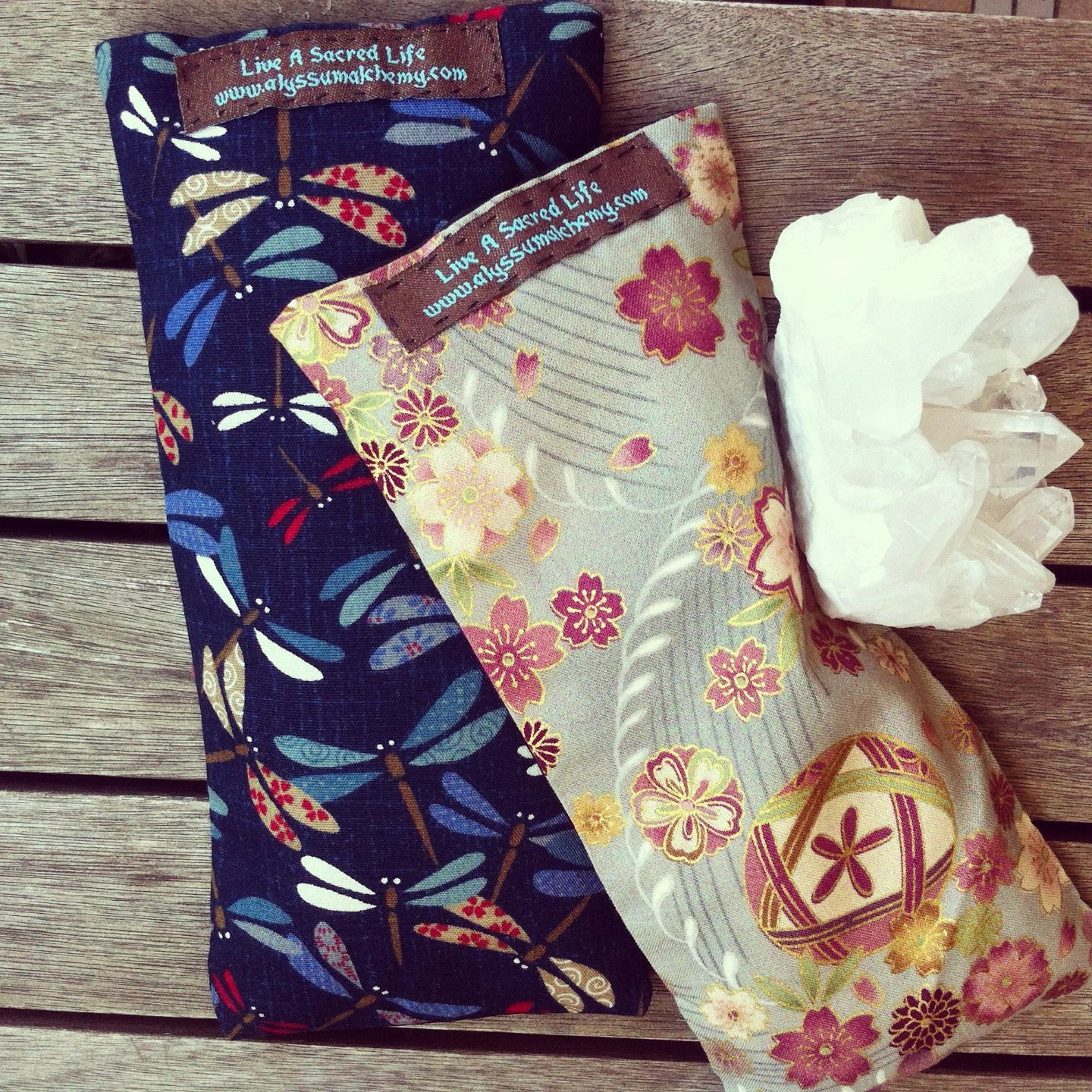 Eye Pillow Australia Organic Lavender Eye Pillows With Crystals And Japanese Fabric