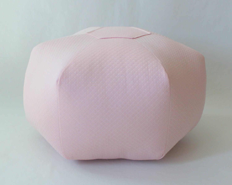 18 Pouf Ottoman Floor Pillow Solid Light Pink