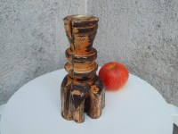Rustic Candle Holder/Wooden pillar candle by ...