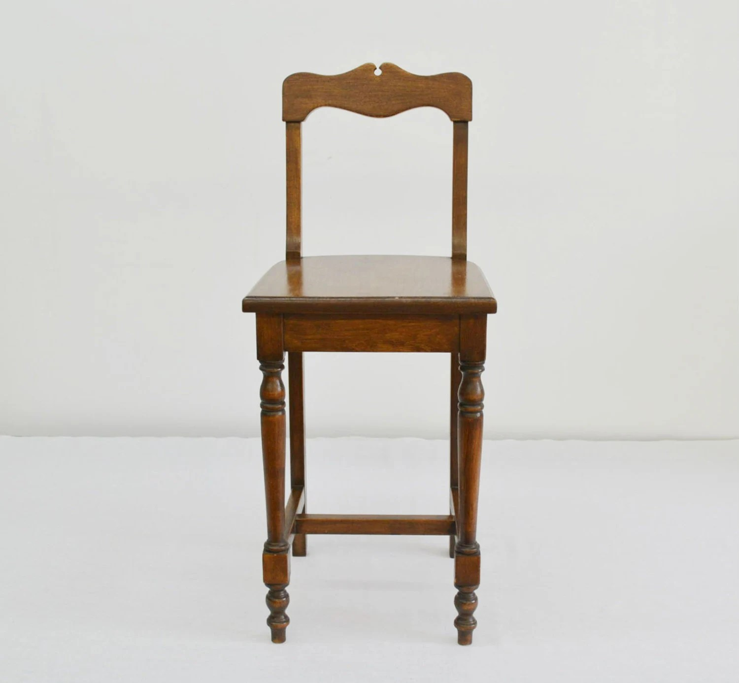 Oak Vanity Chair Vintage Telephone Desk Or Vanity Chair Solid Oak Wood