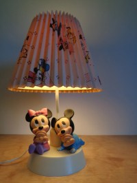 1984 Walt Disney Mickey & Minnie Mouse Lamp and Night Light